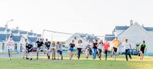 Evening games at the residence