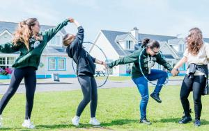 Playing outside residential homes