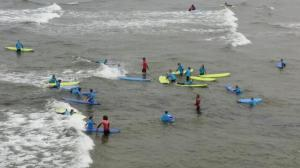 It's surfing big time!