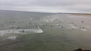 Surfing at Tullam strand