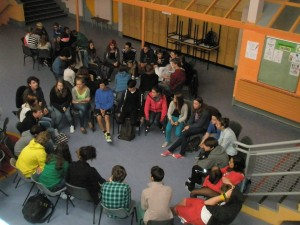 Students debating